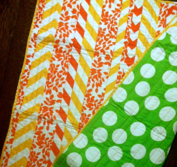 The back of baby Madelaine's quilt!