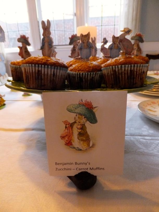 Benjamin Bunny's zucchini-carrot muffins